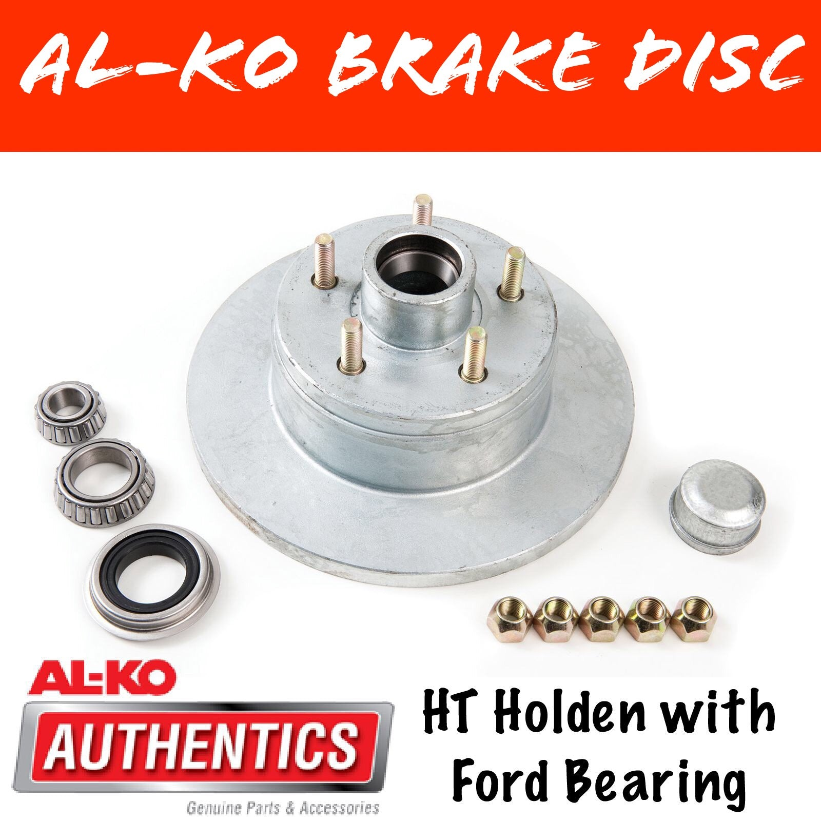 AL-KO HT Holden Gal Brake Disc with Ford Bearings