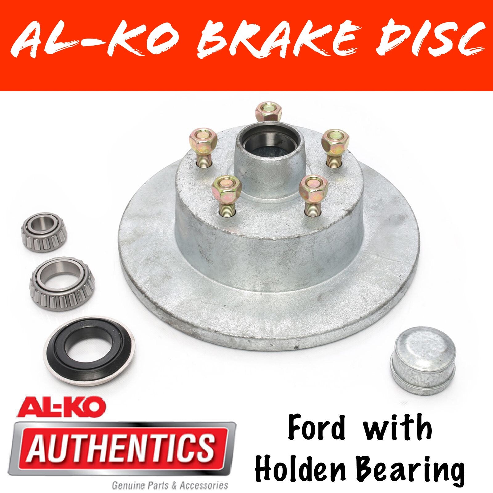 AL-KO Galvanised Ford Brake Disc with Holden Bearings
