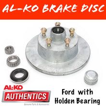 Load image into Gallery viewer, AL-KO Galvanised Ford Brake Disc with Holden Bearings