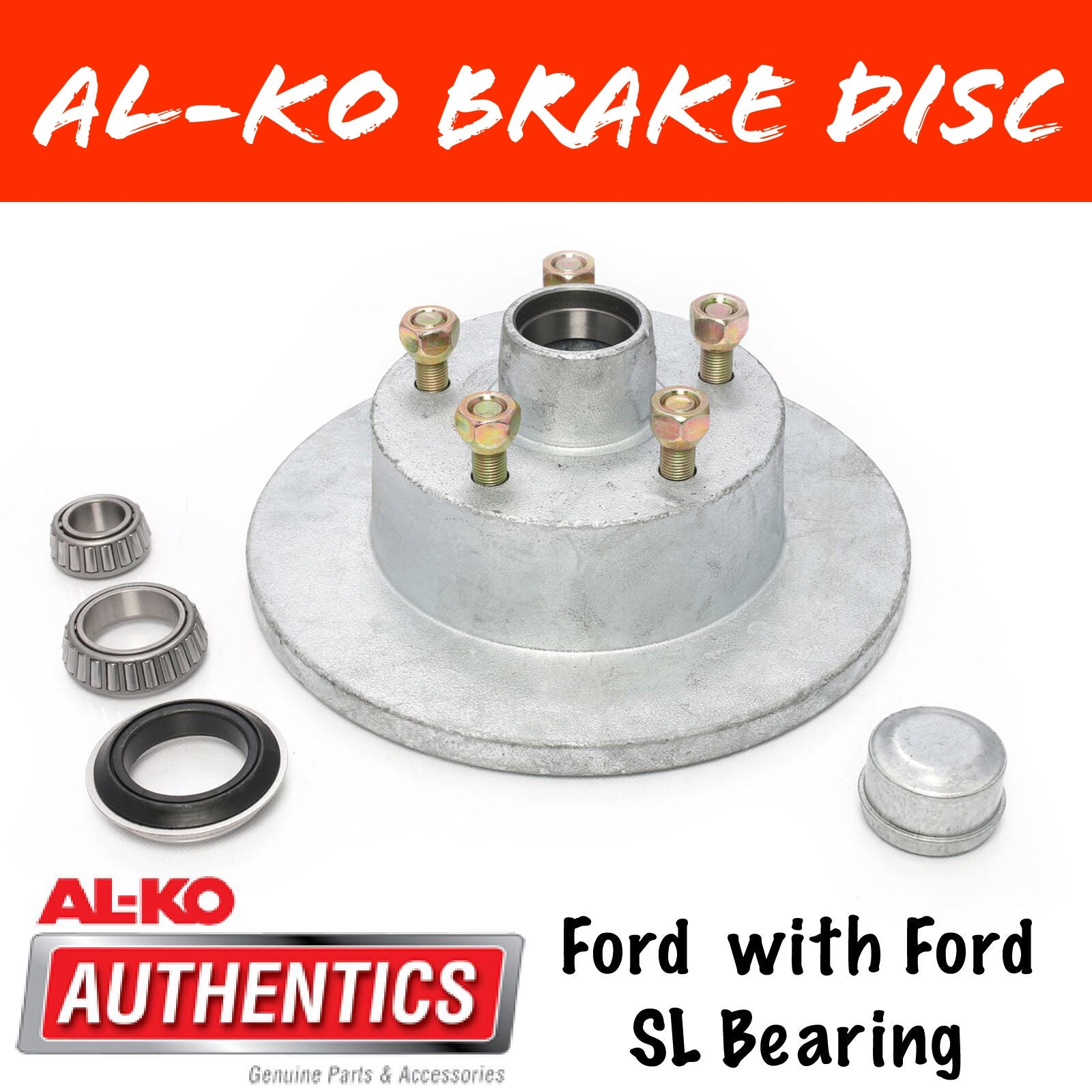 AL-KO Ford Gal Brake Disc with Ford Bearings