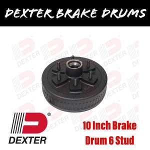 DEXTER 10 INCH BRAKE DRUM 6 STUD