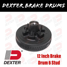 Load image into Gallery viewer, DEXTER 12 INCH BRAKE DRUM 6 STUD