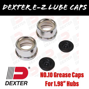 DEXTER 1.98 INCH EZ LUBE GREASE CAPS