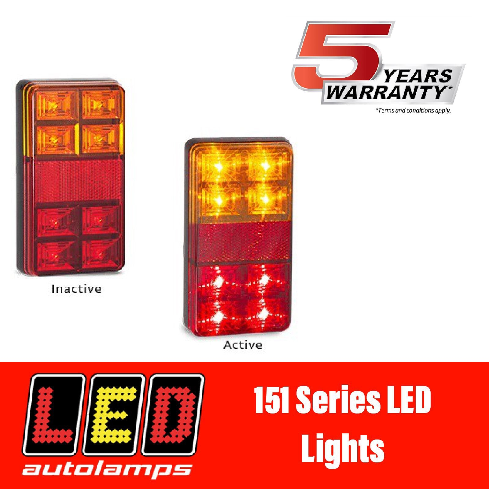LED AUTOLAMPS 151 SERIES LED LIGHTS