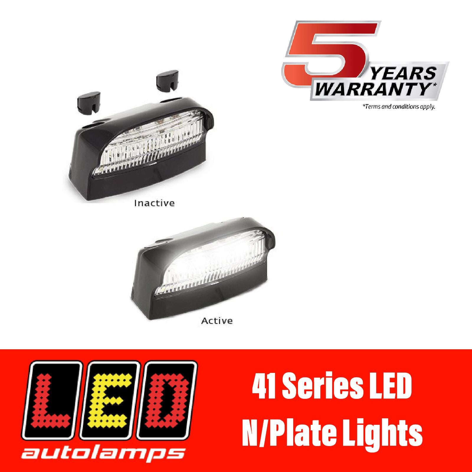 LED AUTOLAMPS 41 SERIES LED Number Plate Light