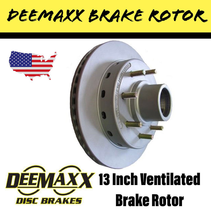 DEEMAXX 13 INCH 8 STUD VENTILATED INTEGRAL Brake Rotor