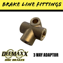 Load image into Gallery viewer, 3 WAY BRASS Brake Line Adaptor