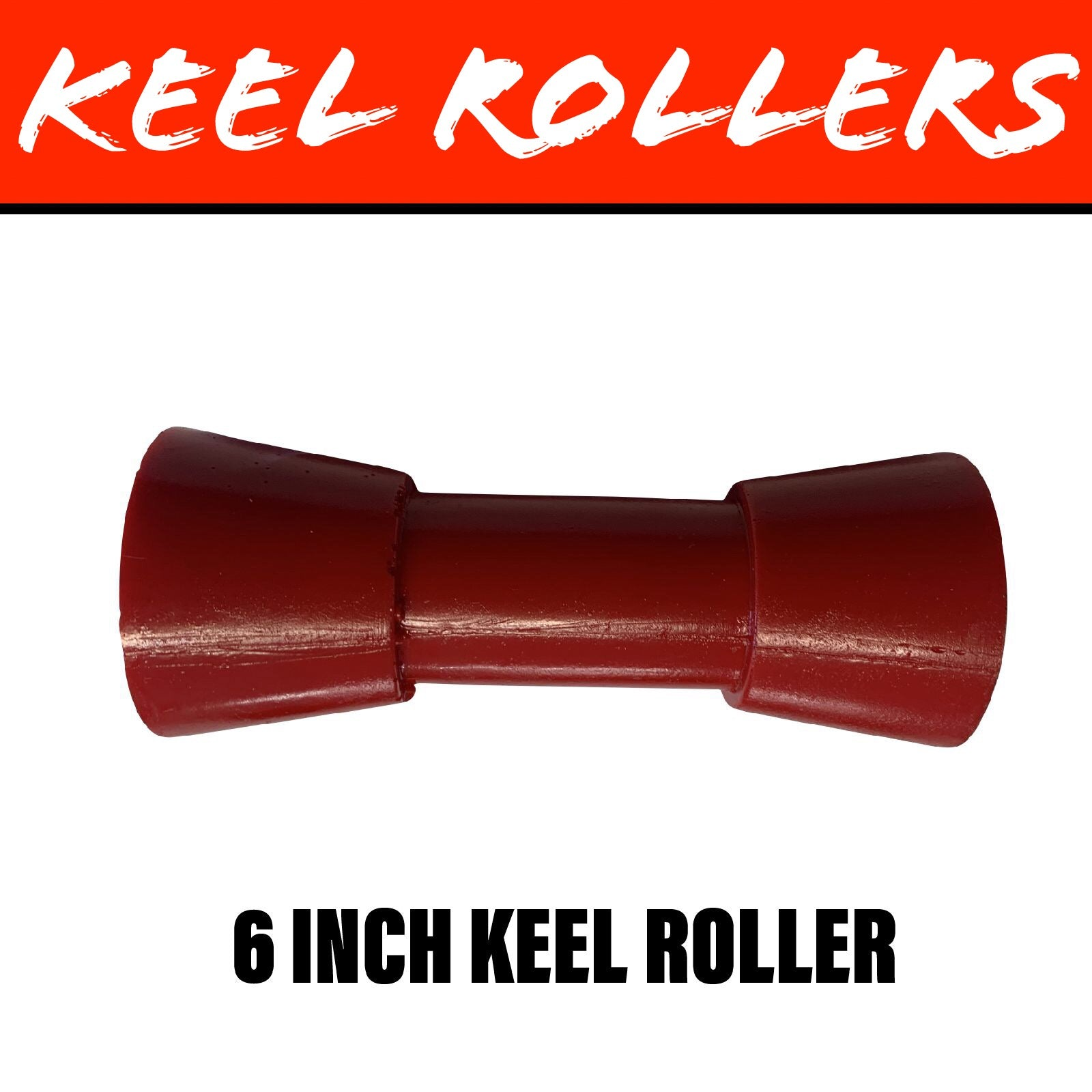 6 INCH RED POLY Keel Roller