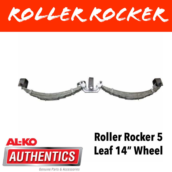 AL-KO ROLLER ROCKER SPRINGS 5 LEAF SUIT 14 INCH WHEELS