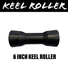 Load image into Gallery viewer, 6 INCH BLACK RUBBER Centre Roller