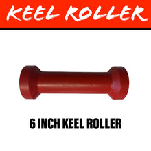 Load image into Gallery viewer, 6 INCH RED POLY Centre Roller