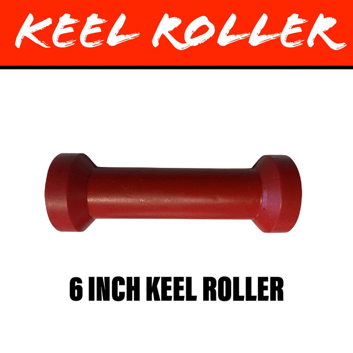 6 INCH RED POLY Centre Roller