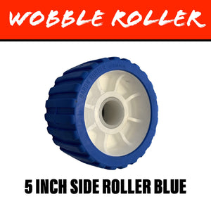 5 INCH BLUE Wobble Roller 26MM Bore