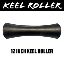 Load image into Gallery viewer, 12 INCH BLACK RUBBER Concave Centre Roller