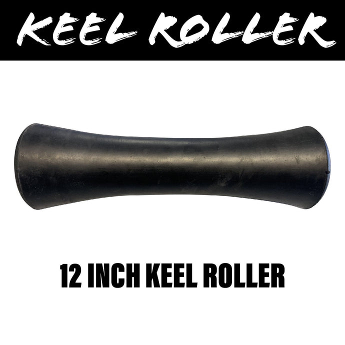 12 INCH BLACK RUBBER Concave Centre Roller