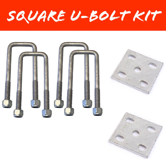 50mm x 100mm SQUARE U-BOLT KIT