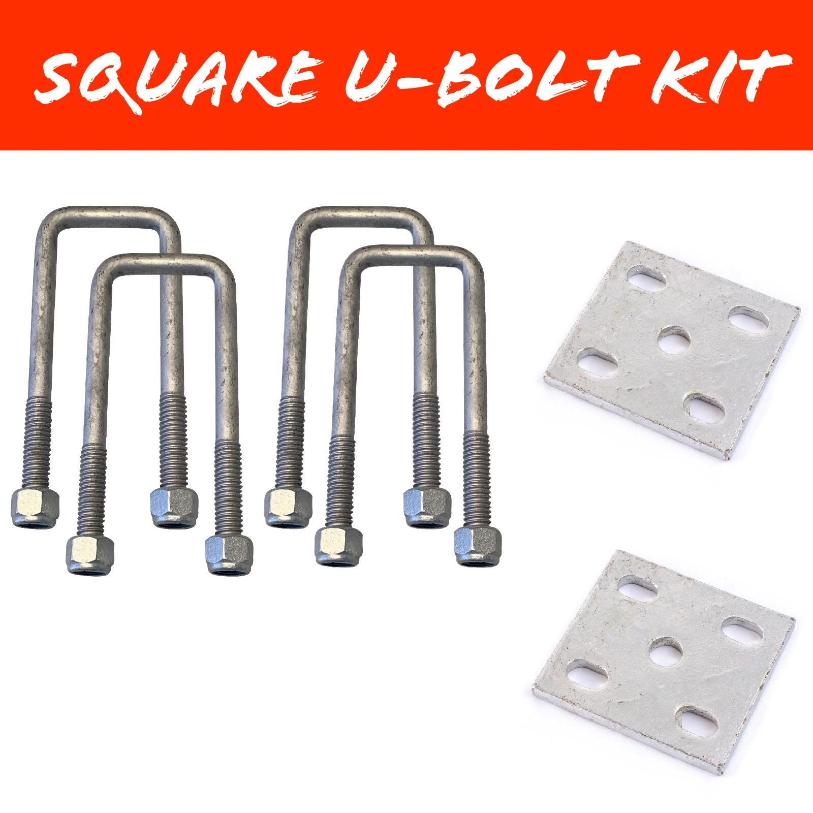 45mm x 140mm SQUARE U-BOLT KIT