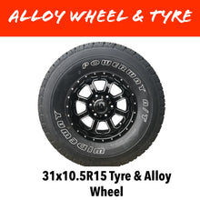 Load image into Gallery viewer, 15 INCH ALLOY WHEEL AND LT TYRE (MULTIPLE SIZES)