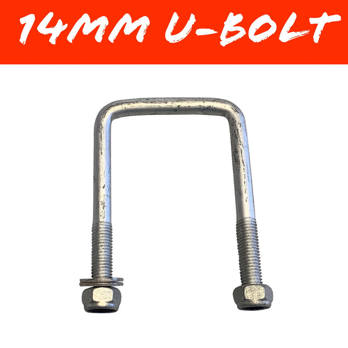 80mm x 130mm 14mm GAL U-BOLT