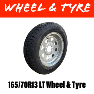 13 INCH GALVANISED WHEEL AND TYRE (MULTIPLE SIZES)