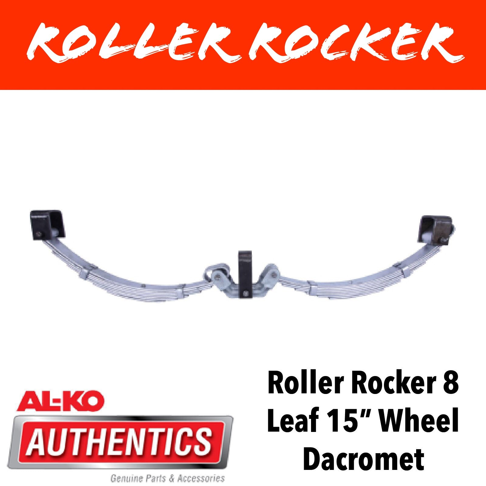 AL-KO DACROMET ROLLER ROCKER SPRINGS 8 LEAF SUIT 15 Inch Wheels