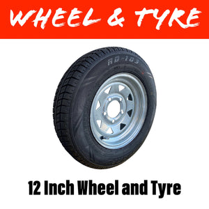 145X12 LT TYRE AND GAL WHEEL