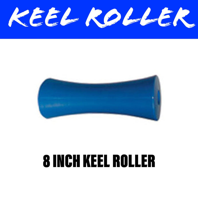 8 INCH BLUE NYLON Concave Centre Roller