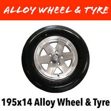 Load image into Gallery viewer, 14 INCH ALLOY WHEEL AND LT TYRE (Multiple Sizes)
