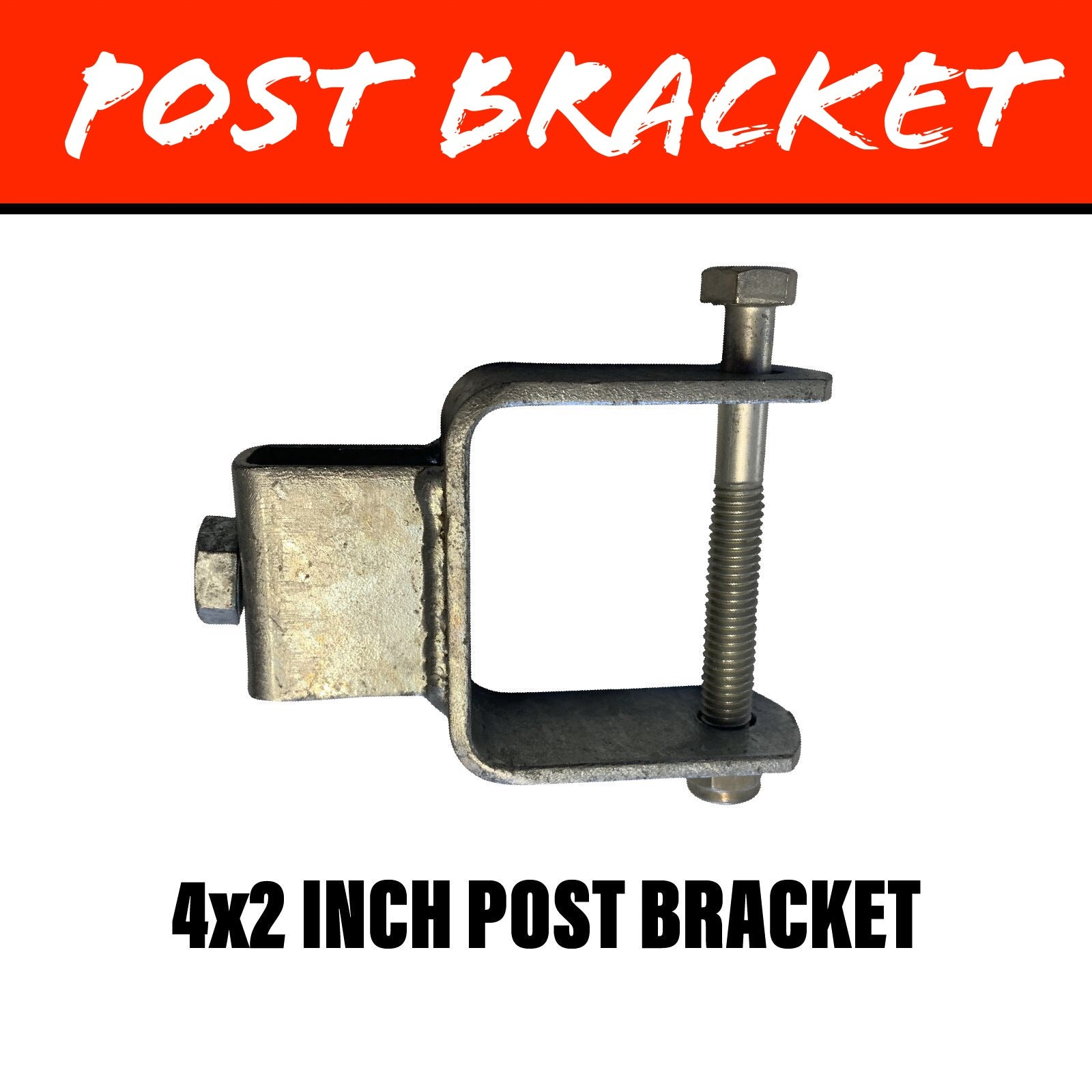 20MM SQUARE POST BRACKET 100X50MM
