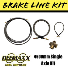 Load image into Gallery viewer, 4500MM S/S FLEXIBLE Brake Line Kit