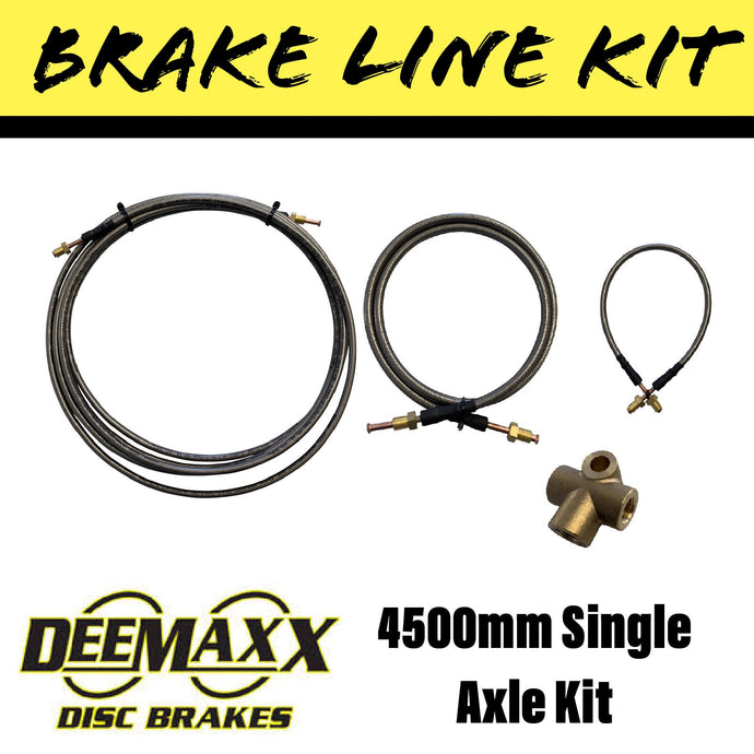 4500MM S/S FLEXIBLE BRAKE LINE KIT