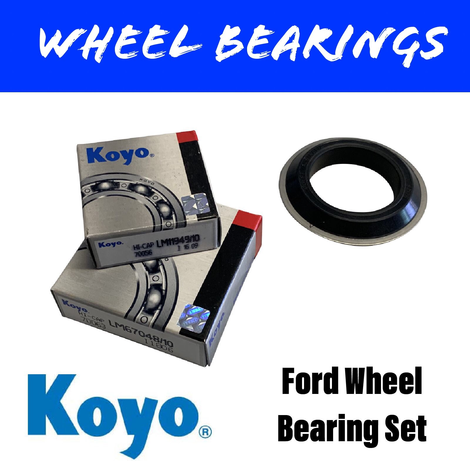 KOYO FORD SL Wheel Bearing Set Marine