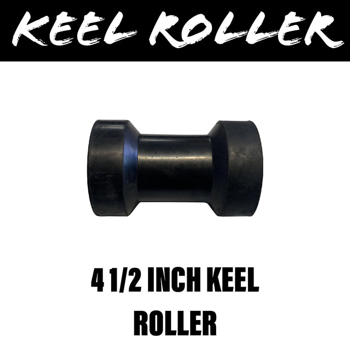 4 1/2 INCH BLACK RUBBER Centre Roller