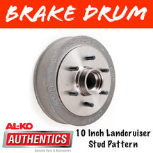 Load image into Gallery viewer, AL-KO 10 Inch 6 Stud Brake Drum Suits Parallel Bearings
