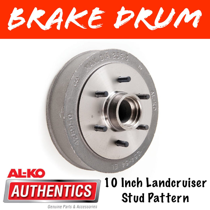 AL-KO 10 Inch 6 Stud Brake Drum Suits Parallel Bearings