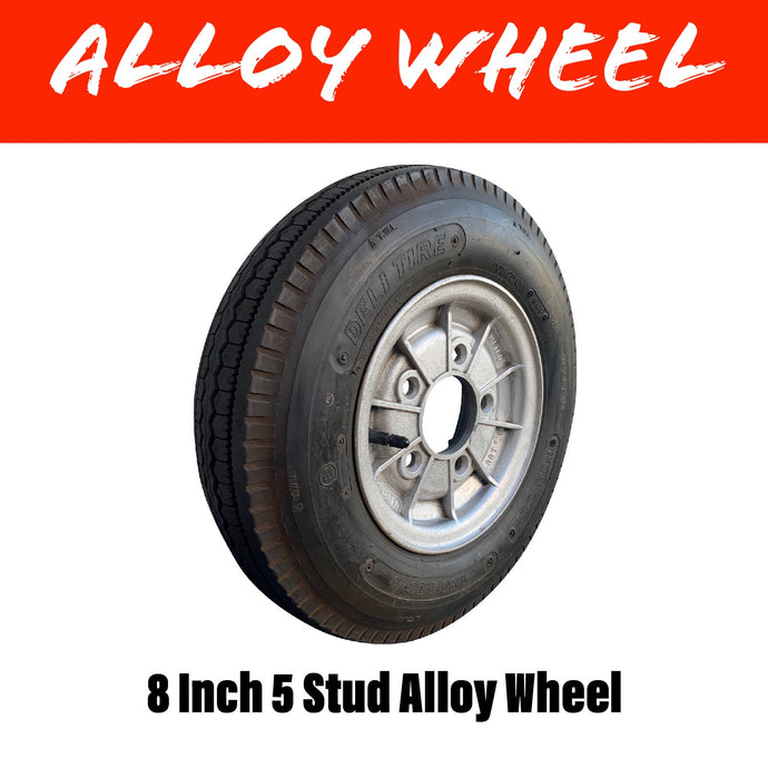 8 X 3 INCH 5 STUD ALLOY WHEEL