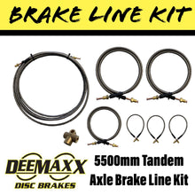 Load image into Gallery viewer, 5500MM S/S FLEXIBLE BRAKE LINE KIT Tandem Axle