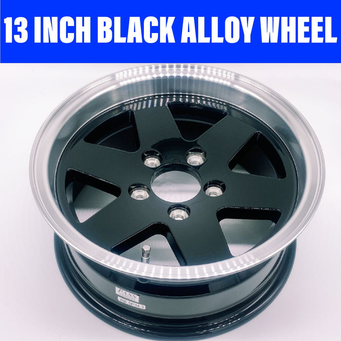13 INCH KOYA BLACK ALLOY WHEEL HT STUD PATTERN