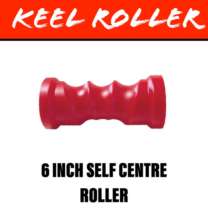 6 INCH RED POLY Self Centring Centre Roller