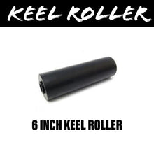 Load image into Gallery viewer, 6 INCH BLACK RUBBER Flat Bilge Centre Roller