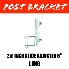 Load image into Gallery viewer, 20MM SQUARE POST Slide Adjuster Bracket 50X25MM