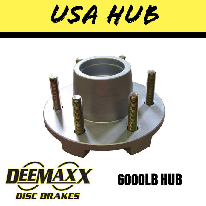 DEEMAXX 6 STUD HUB SUIT DEXTER 6000LB Bearings