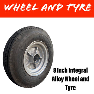 "8"" INTEGRAL ALLOY WHEEL WITH 4.80 X 8 TYRE"