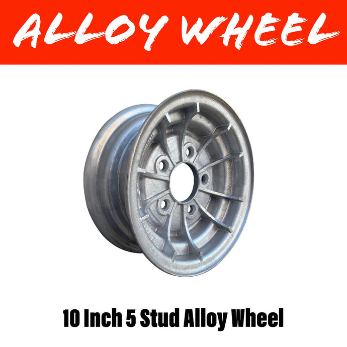 10 INCH 5 STUD ALLOY WHEEL