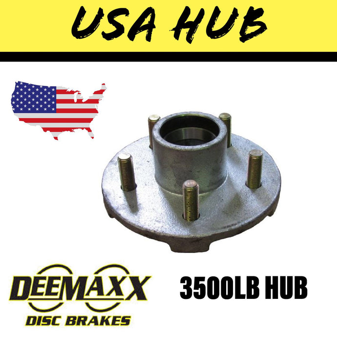 DEEMAXX 5 STUD HUB SUIT AMERICAN 3500LB Bearings