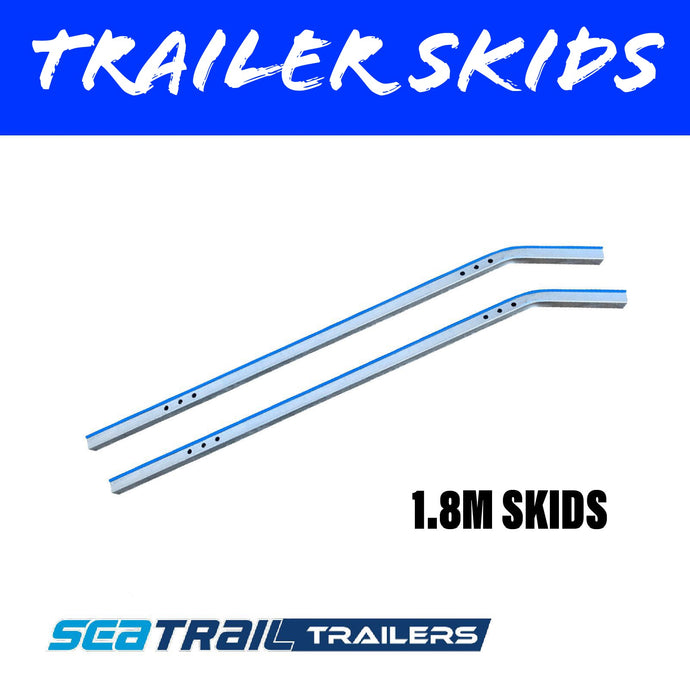 1.8M METAL BACKED Boat Trailer Skids