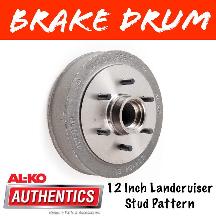 AL-KO 12 Inch 6 Stud Brake Drum Suit 2T Bearings