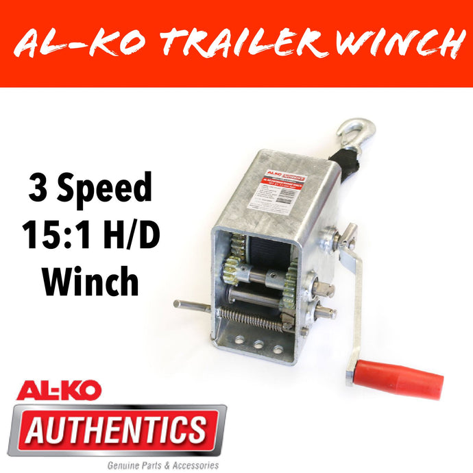AL-KO 3 SPEED 15:1 Marine Winch with Strap