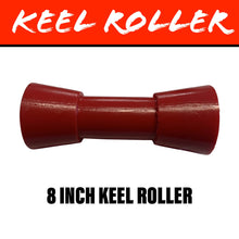 Load image into Gallery viewer, 8 INCH RED POLY Centre Roller