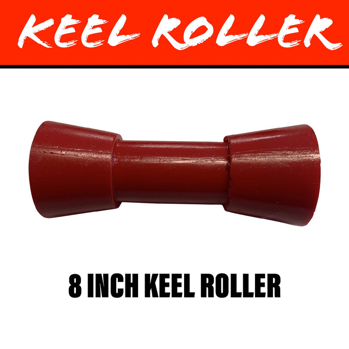 8 INCH RED POLY Centre Roller
